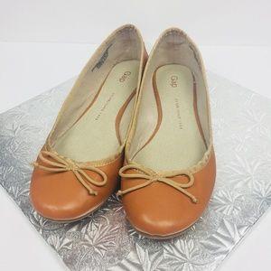 Gap Size 8.5 Classic Ballet Flats Shoes Cognac